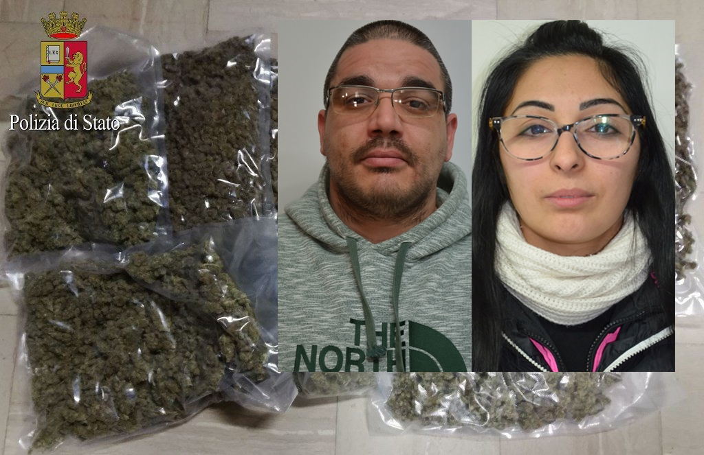 Arrestata una coppia a Pachino, in casa nascondeva 20 chili di marijuana