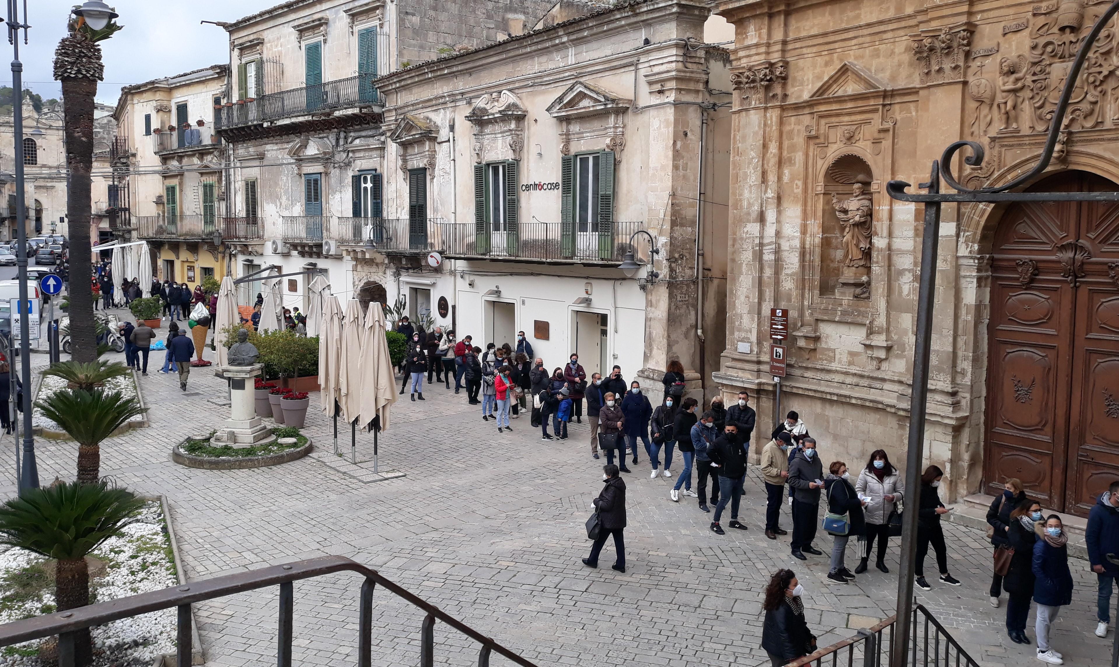 Modica, test rapidi Covid a Palazzo di Città: 1068 effettuati con 7 positivi