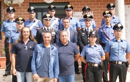 Il delitto Sortino, Il comandante dei carabinieri Grasso si congratula con i militari della Tenenza di Floridia