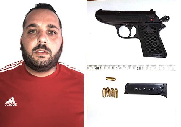 Fu preso a Floridia con una pistola, in Appello ridotta la condanna