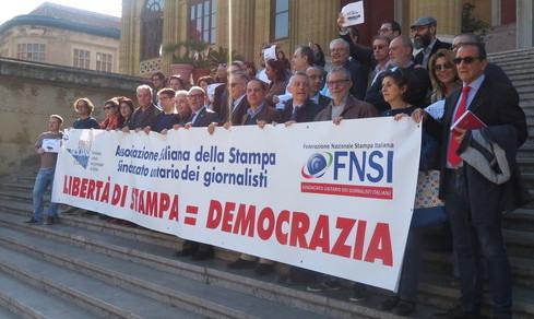 Libertà di stampa, stamane  flash mob dei giornalisti a Palermo