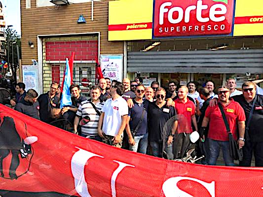 Manifestazione a Palermo dei lavoratori Fortè per l'occupazione