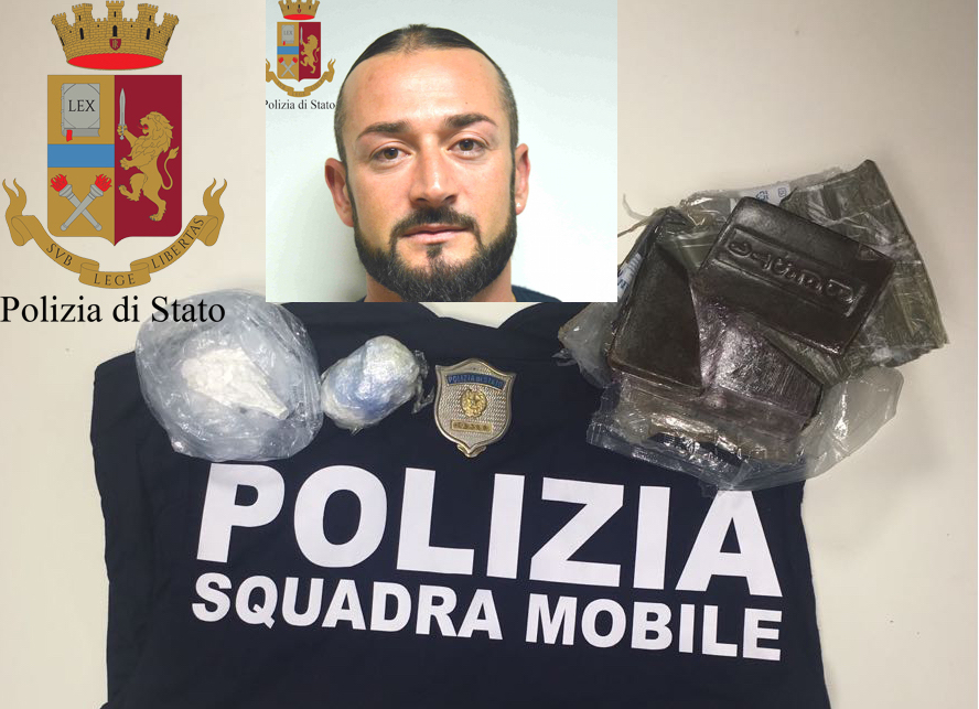 Droga, in auto un chilo di hashish e cocaina: arresto a Vittoria