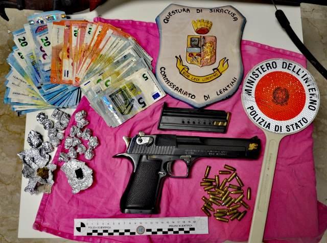 Armi e droga trovate a Lentini dalla polizia, scatta il sequestro