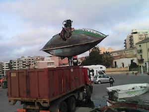 Siracusa, rimossi i relitti nell'area dello Sbarcadero Santa Lucia