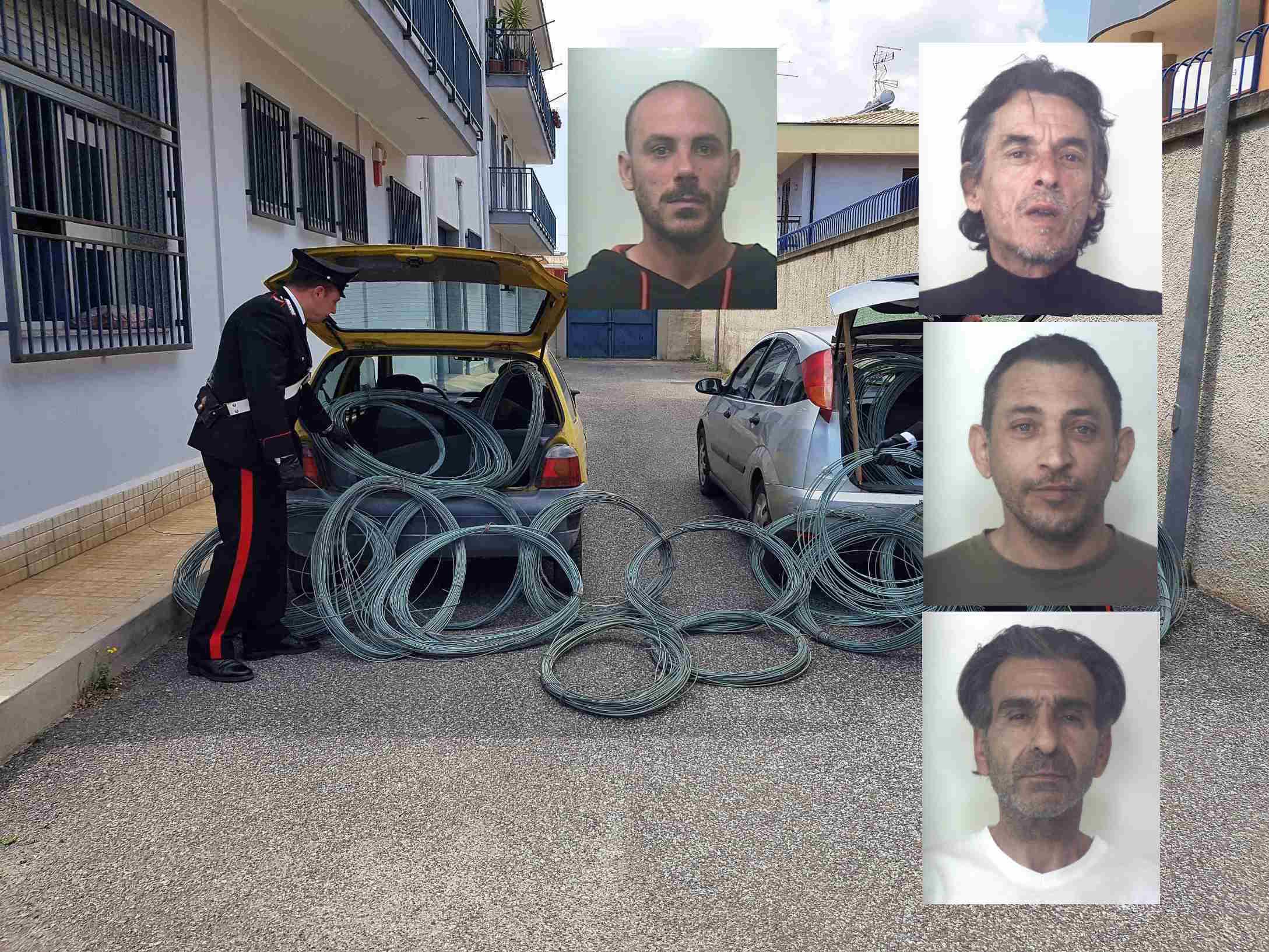 I carabinieri arrestano 4 persone tra Siracusa ed Augusta