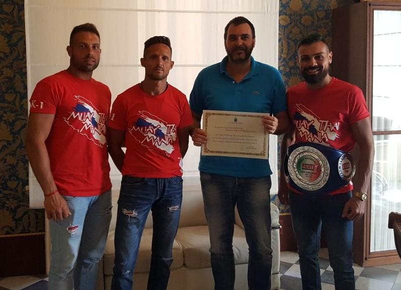 Vittoria, ricevuto dal sindaco il campione italiano di Muay Thai
