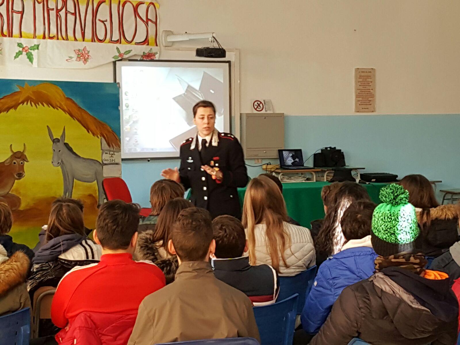 Bullismo, i carabinieri all'Istituto comprensivo Verga di Siracusa