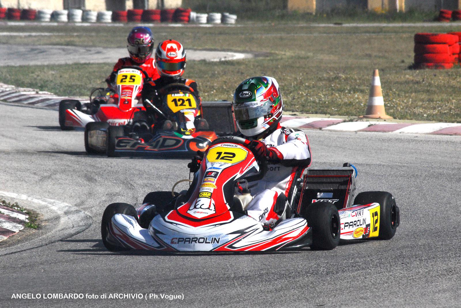 Karting, a Ispica sul podio più alto Lombardo: en plein di Busso sulla Mini Gr3