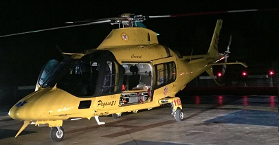 Incidente a Floridia, scooterista ferito trasportato in elisoccorso a Catania