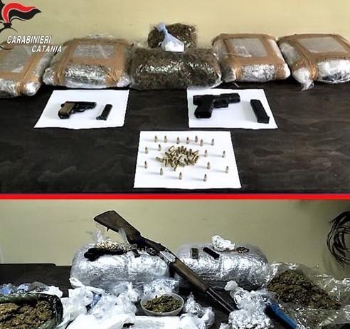 Giarre, traffico di droga: disarticolato il clan Brunetto con 46 arresti