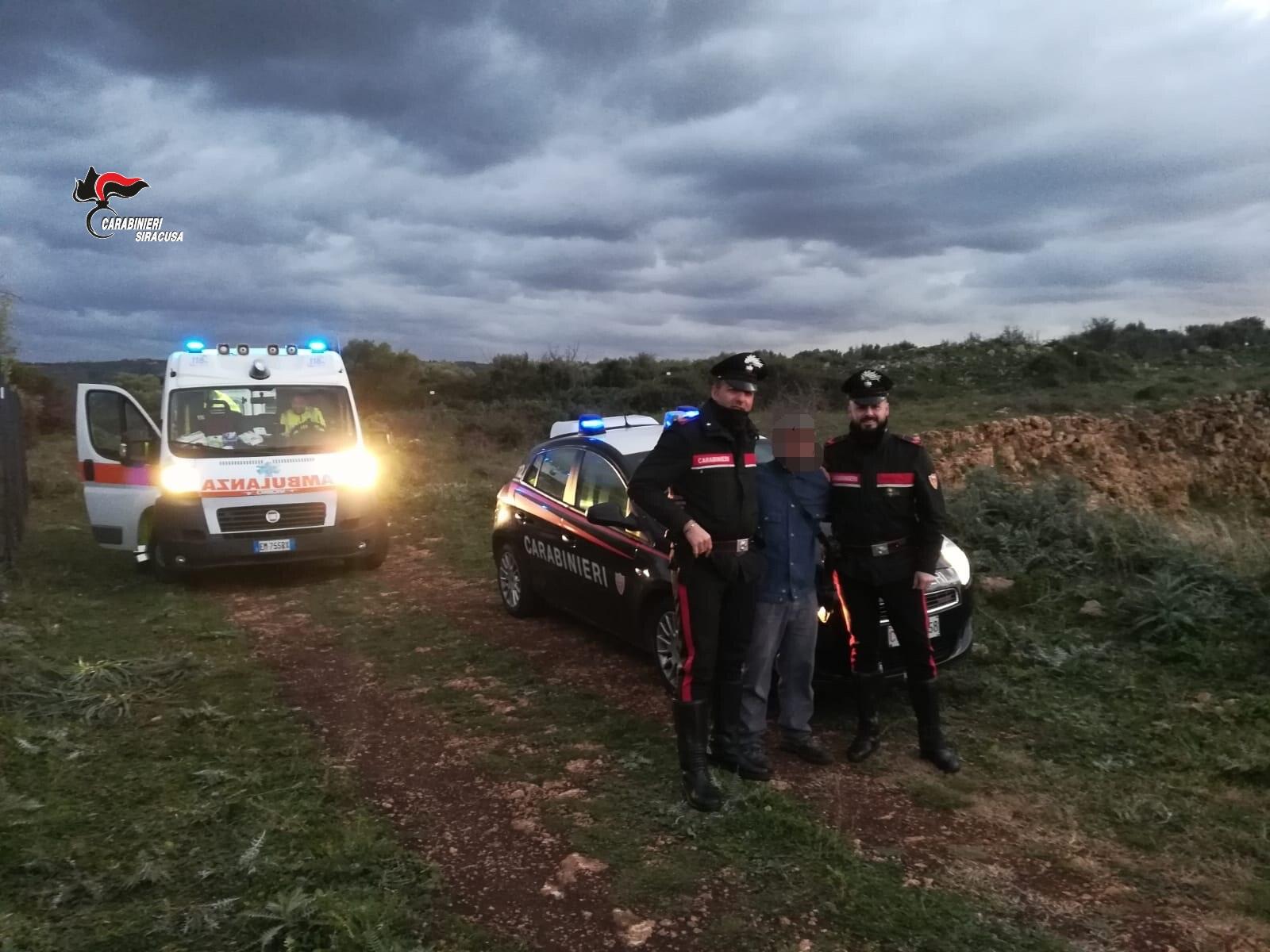 Melilli, si perde durante un'escursione: viene trovato dai carabinieri