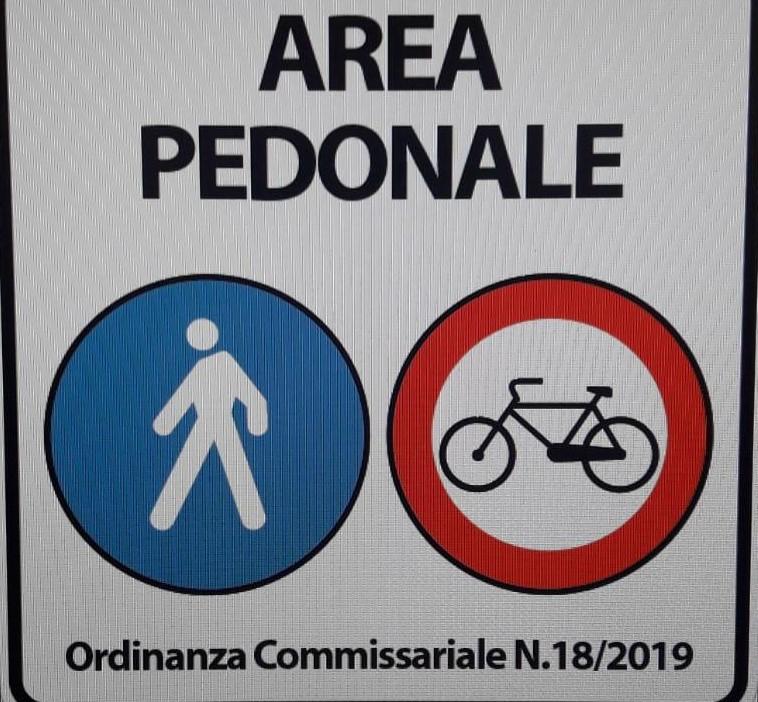 Vittoria, divieto di transito per le biciclette in Via Cavour e nell'area pedonale di Piazza del Popolo