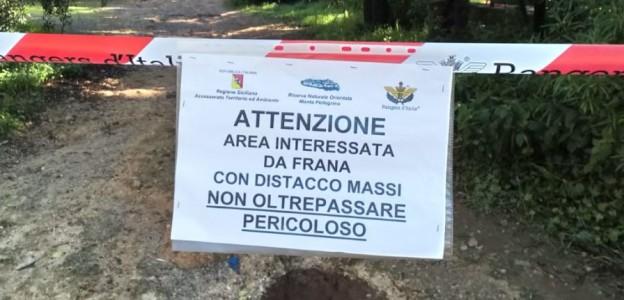 Palermo, crolla costone di Monte Pellegrino: transito interdetto