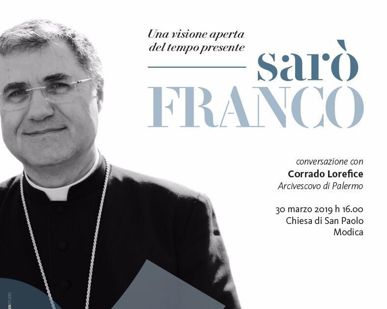 Modica, l'Associazione Franco Ruta ospita l'Arcivescovo di Palermo