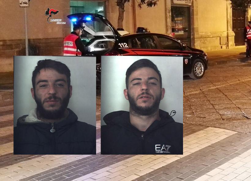 Siracusa, presi due fratelli gemelli mentre tentano di rubare in un bar