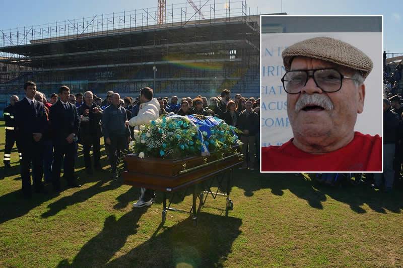 Oggi l'ultimo addio all'ex presidente del Siracusa: sosta di rigore allo stadio