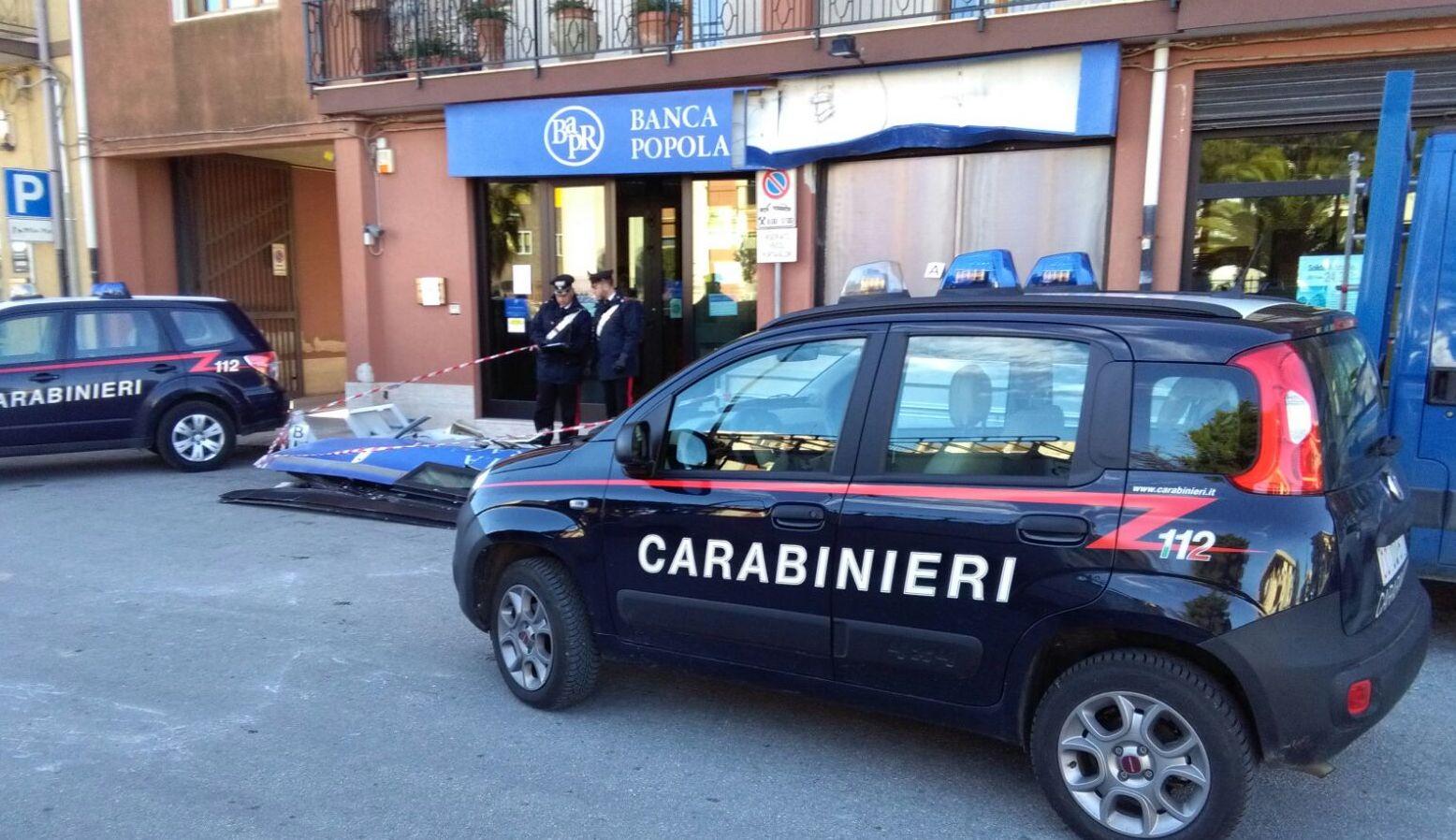 Colpo con spaccata alla Popolare agricola di Ragusa, rubato il bancomat a Palazzolo