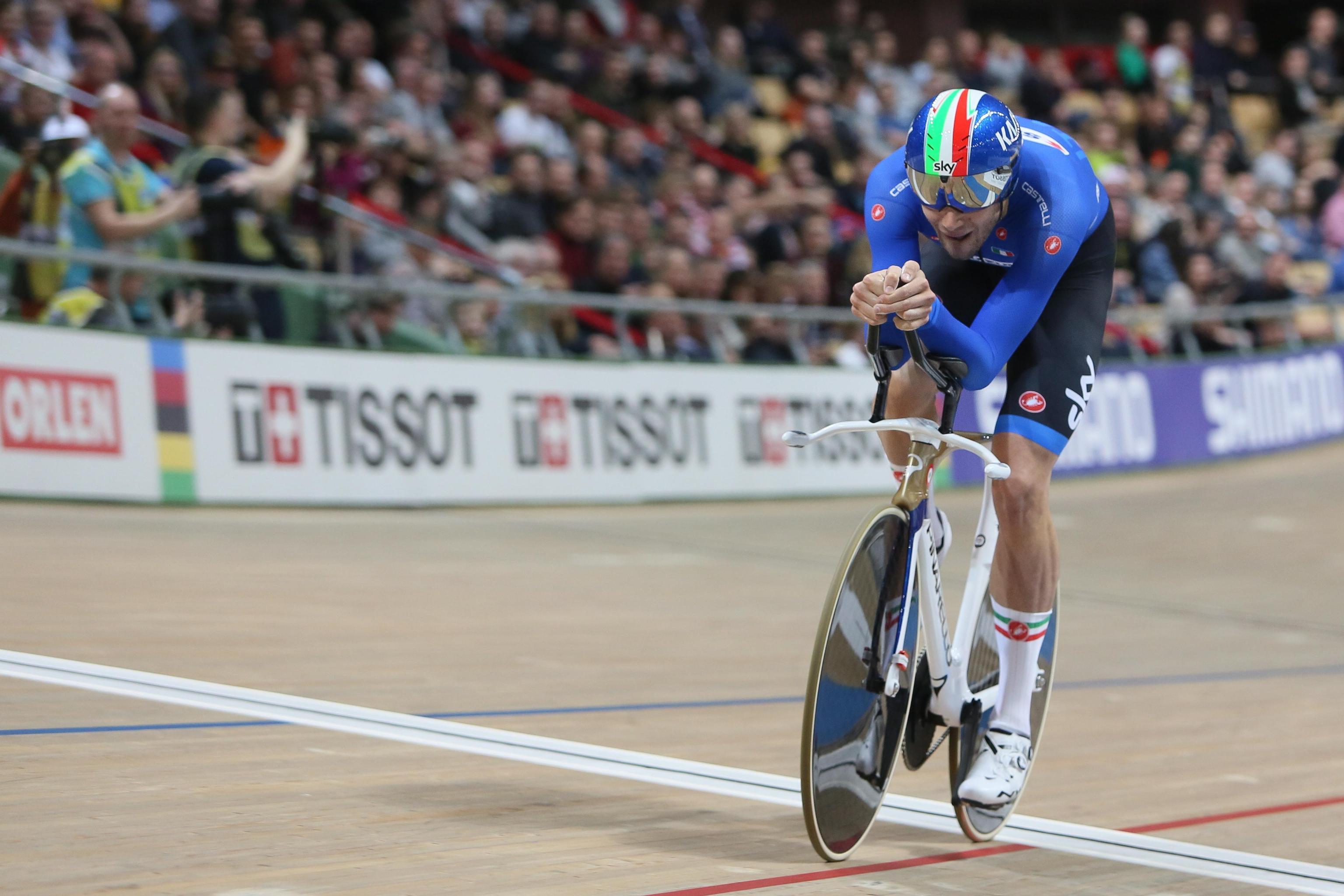 Ciclismo, tris dell'Italia ai campionati mondiali su pista: Ganna oro e bronzo