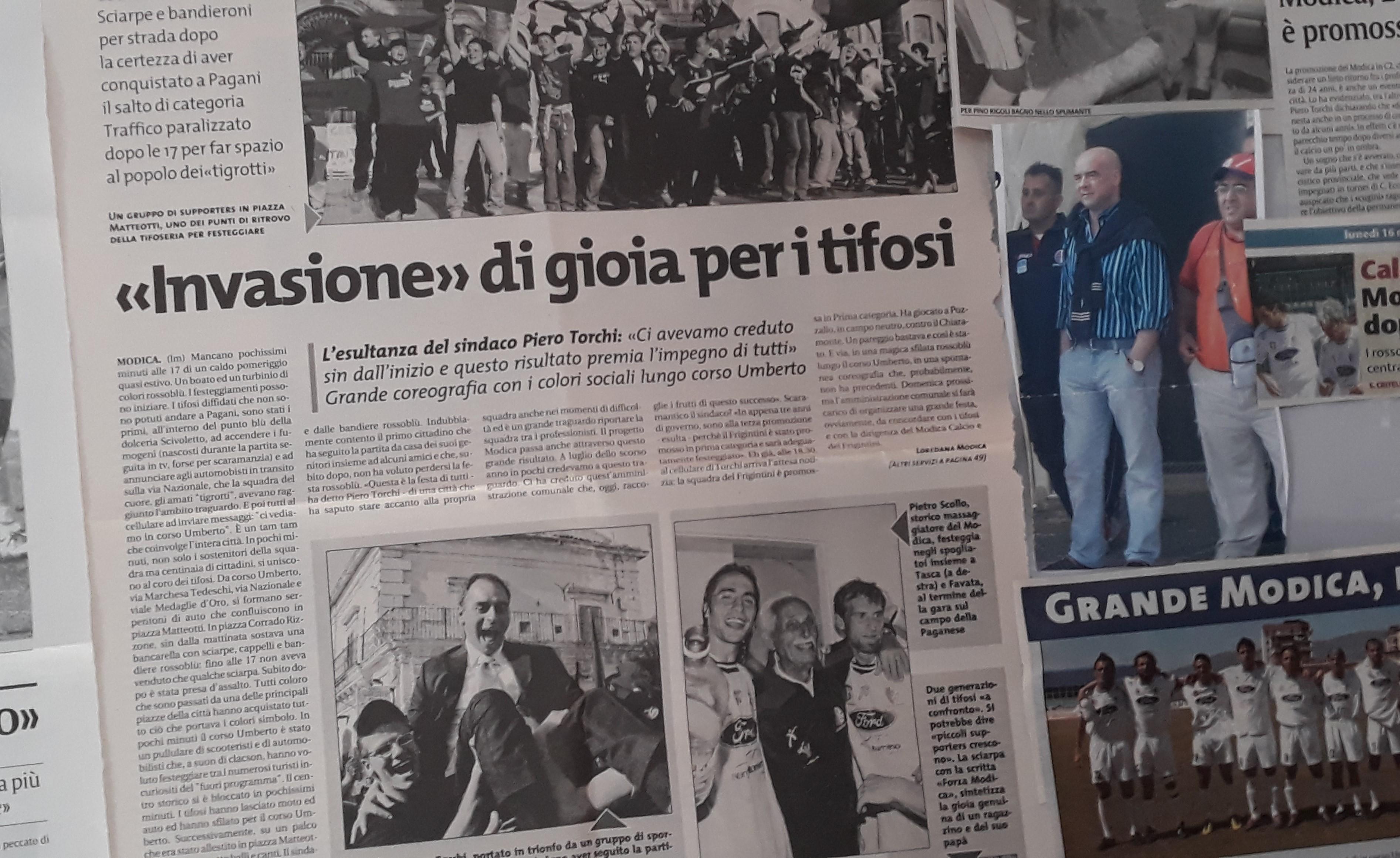 Modica Calcio, le imprese del passato rivivono in una mostra di foto e giornali