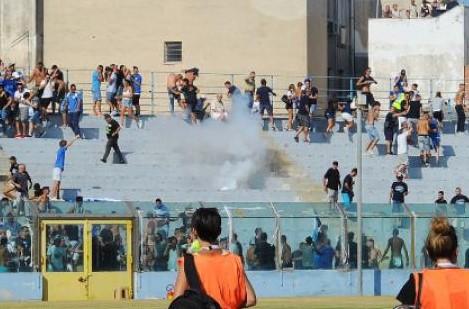 Gradinata agibile per la partita Siracusa - Foggia