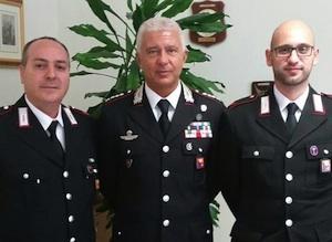 La rapina sventata alle Poste di Francofonte, i due carabinieri ricevuti al Comando