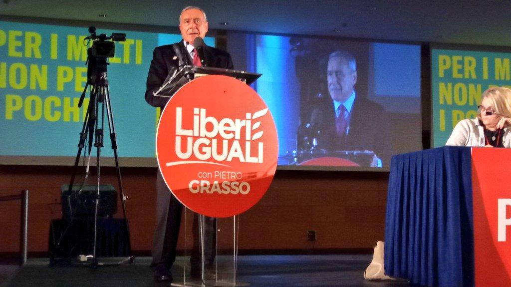 Elezioni, Grasso suona la carica all'Assemblea di Liberi e Uguali