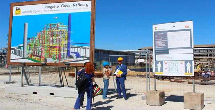 Eni, domani si inaugura la 'green refinery'  di Gela