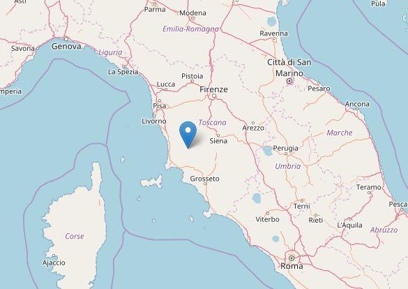 Trema ancora la terra nel Maceratese, scossa a Grosseto