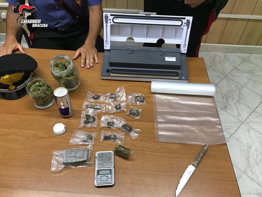 Rosolini, preso con marijuana e hashish: preso e rimesso in libertà