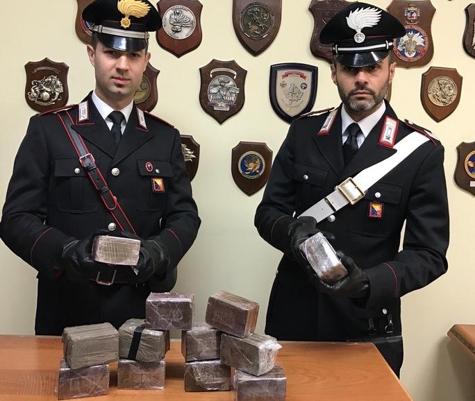 Palermo, in casa aveva 6 chili di hashish: arrestato dai carabinieri