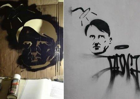 Murales col volto di Hitler a Enna: identificato il responsabile