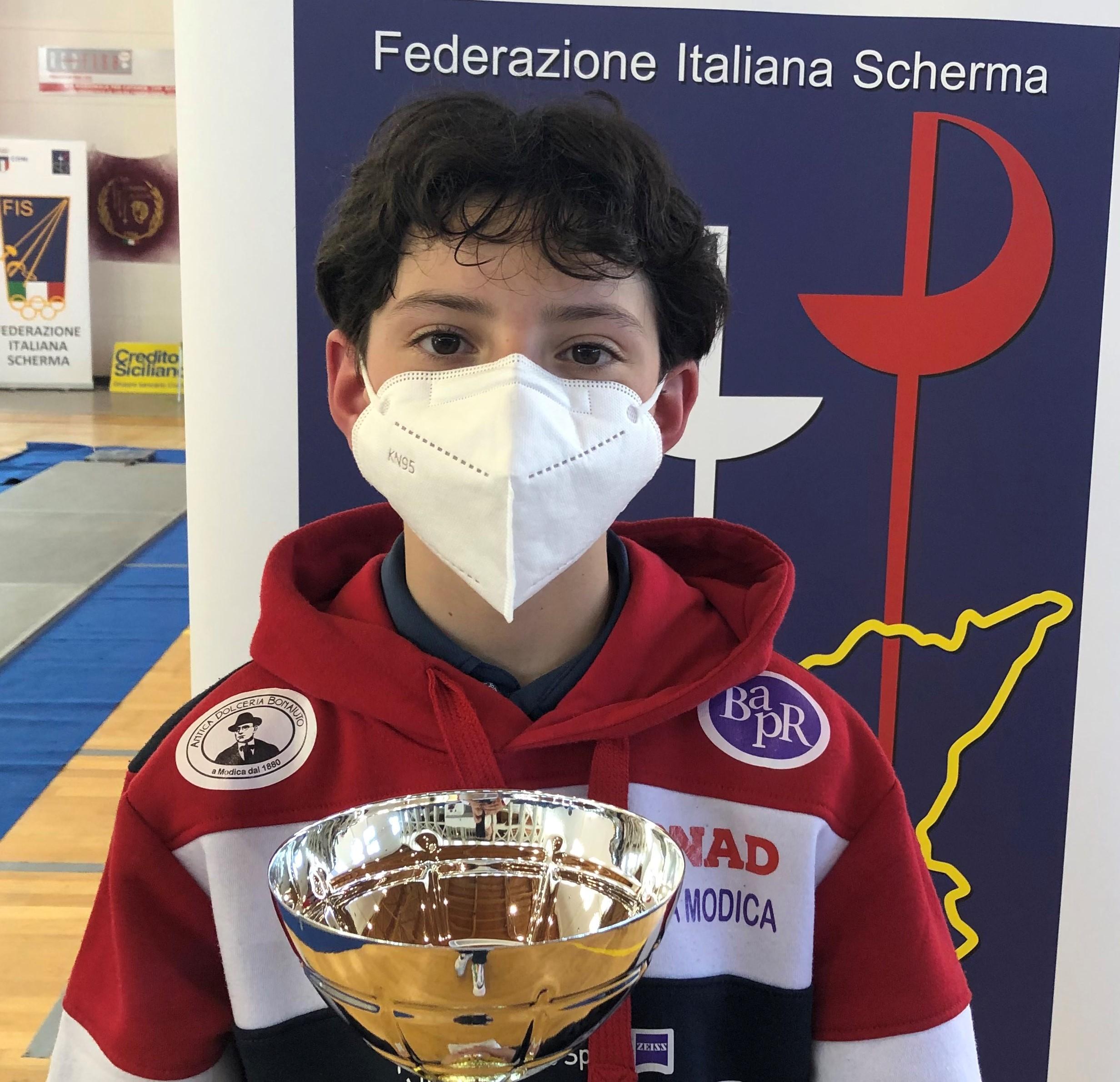 Scherma Modica, Prova Regionale Under 14: Ottavia Iacono vince nella categoria Giovanissime fioretto