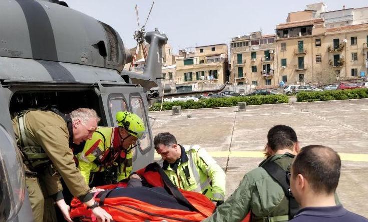 Escursionista in difficoltà soccorso con un elicottero nel Trapanese