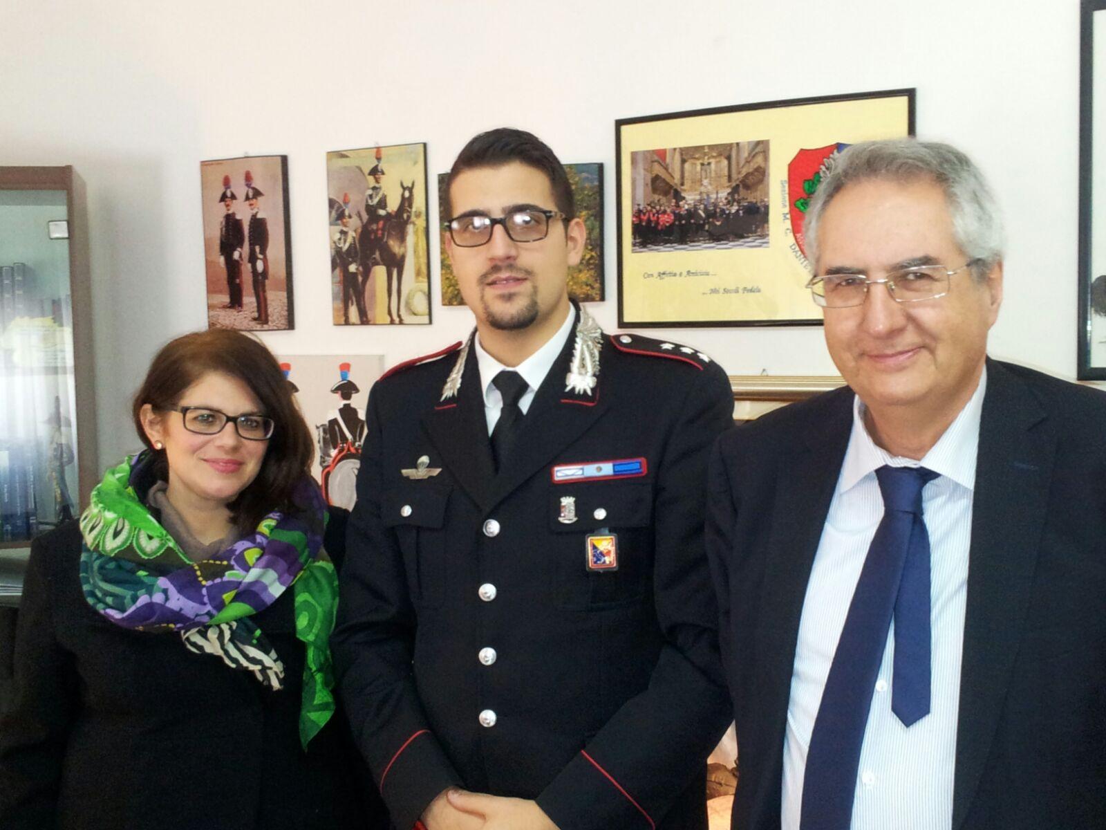 Noto, il comandante dei Carabinieri ha incontrato il coordinatore di