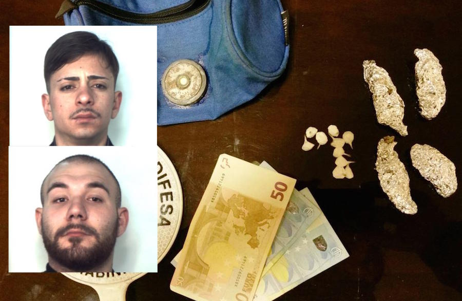 Catania, colti in flagrante mentre spacciano droga: arrestati due presunti pusher