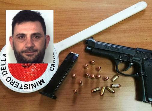 Catania, nasconde in casa una pistola carica: arrestato