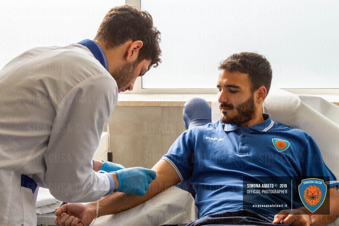 Collaborazione tra Siracusa e Avis: primi azzurri donano il sangue