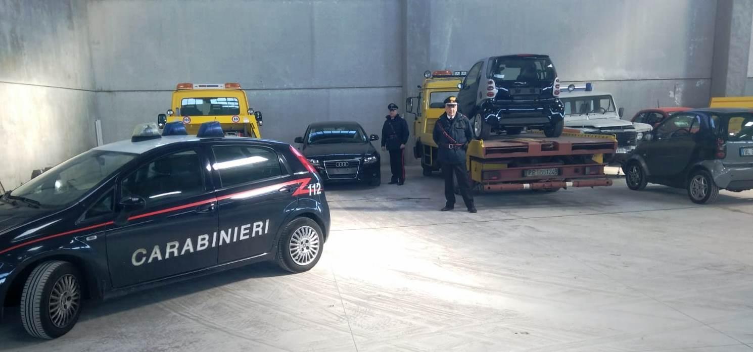 Scoperto a Mascalucia un  deposito di automobili riciclate
