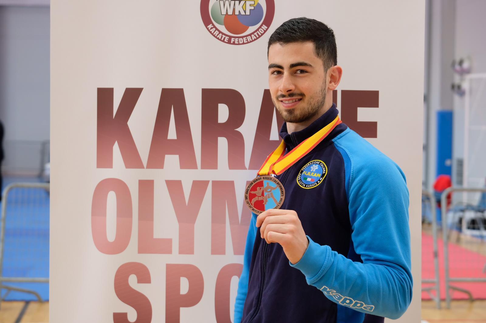 Karate, il vittoriese Giuseppe Panagia bronzo agli Europei di Guadalajara in Spagna