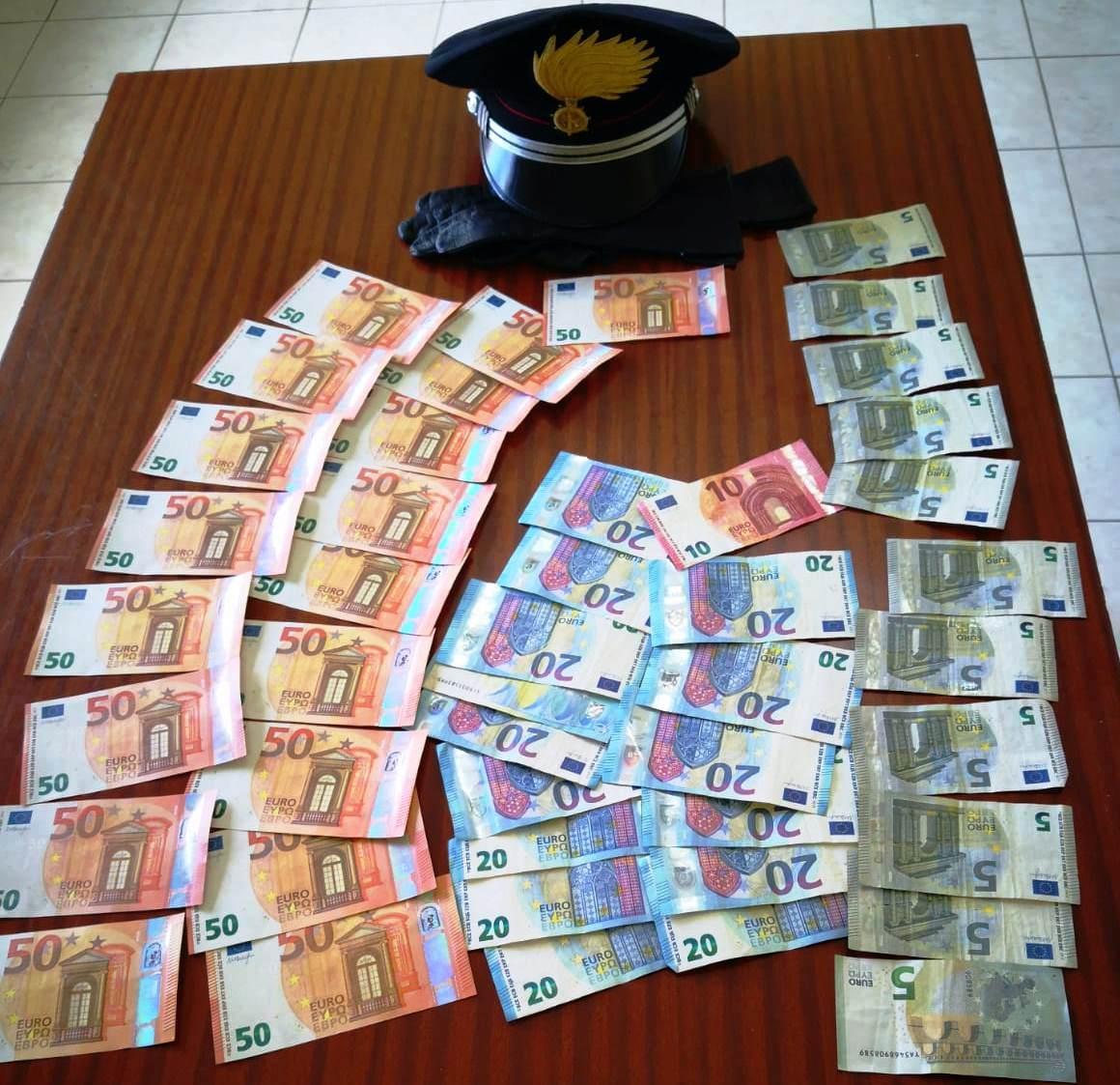 Giovane coppia arrestata a Vizzini per spendita di banconote false
