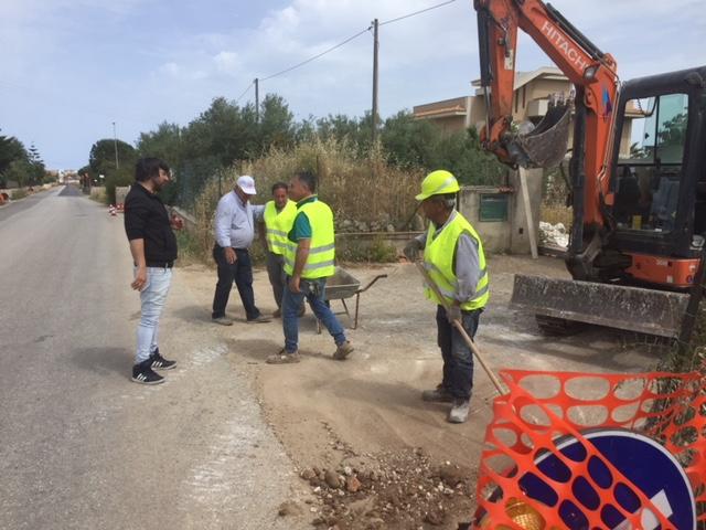 Rosolini, lavori a Sant'Alessandra: luce  nella