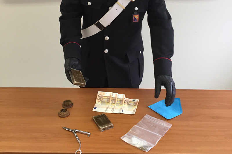 Scicli, arrestati due incensurati trovati con 200 grammi di hashish