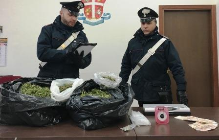Paternò, arrestati due presunti spacciatori e sequestrati 5 chili di marijuana