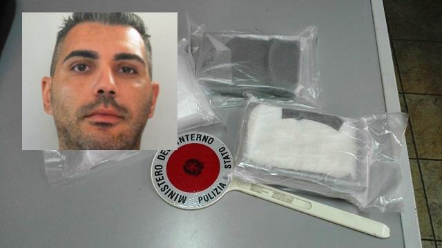 Trovato con 3 chili di cocaina sulla Catania-Siracusa
