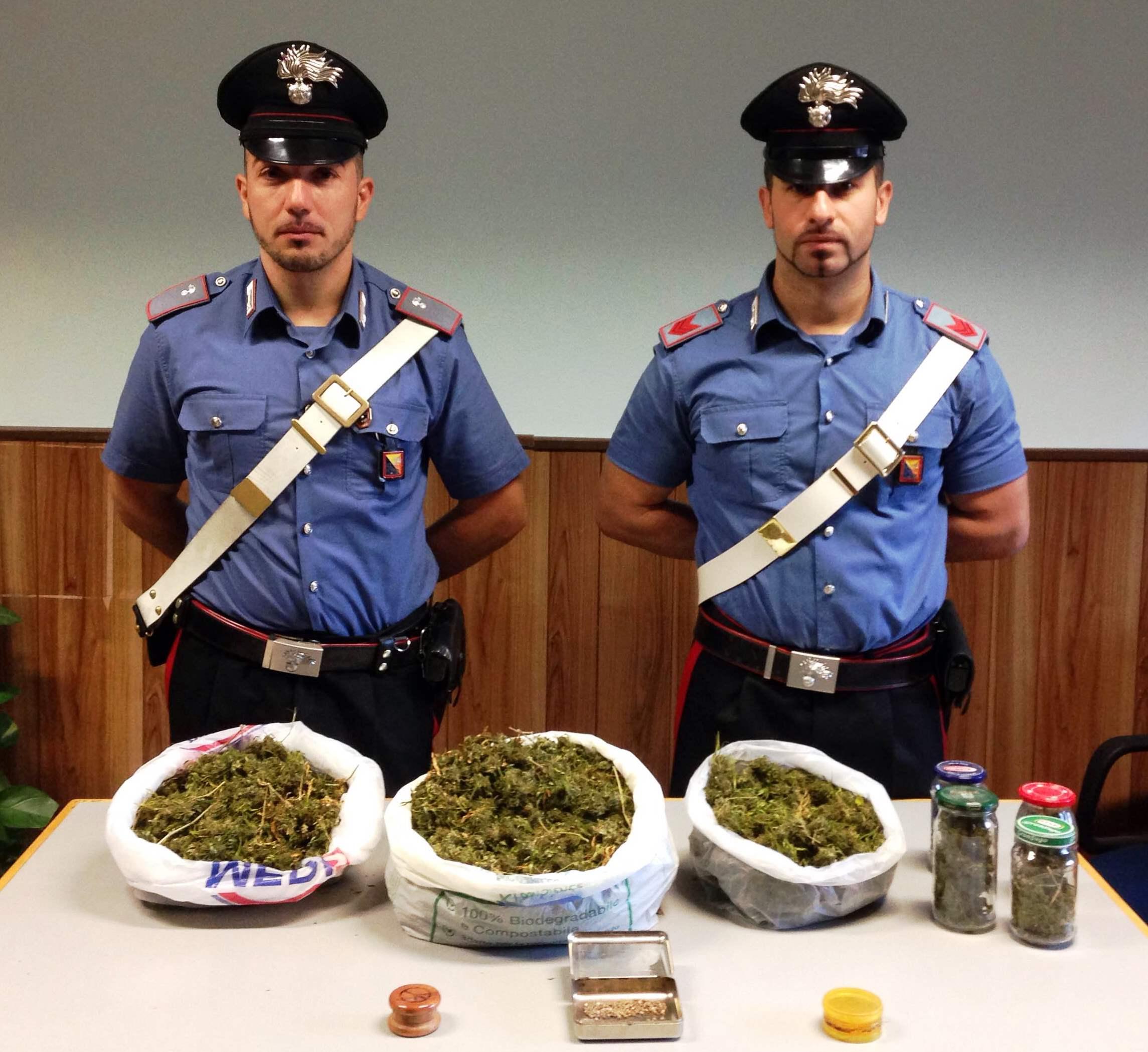 Santa Maria di Licodia, aveva in casa quasi un chilo di marijuana: arrestato