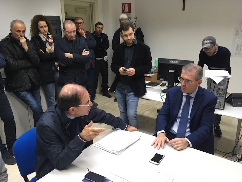Alluvione nel Calatino, l'assessore Falcone in visita nei centri colpiti