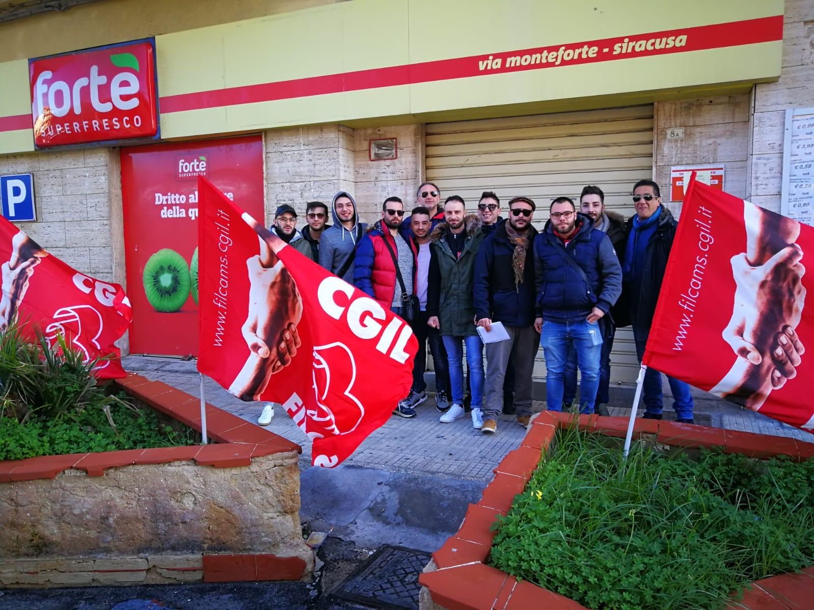 Vertenza Fortè, presidiati i punti vendita di Siracusa, Noto, Pachino e Canicattini Bagni