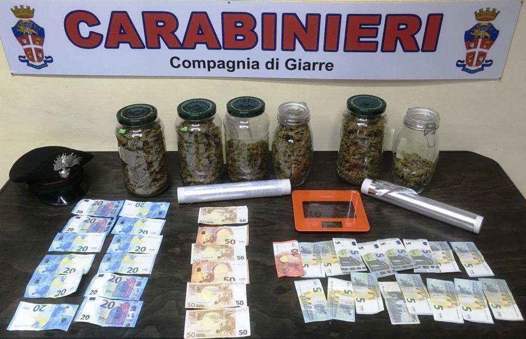Due fratelli arrestati a Giarre: avevano oltre un chilo di droga
