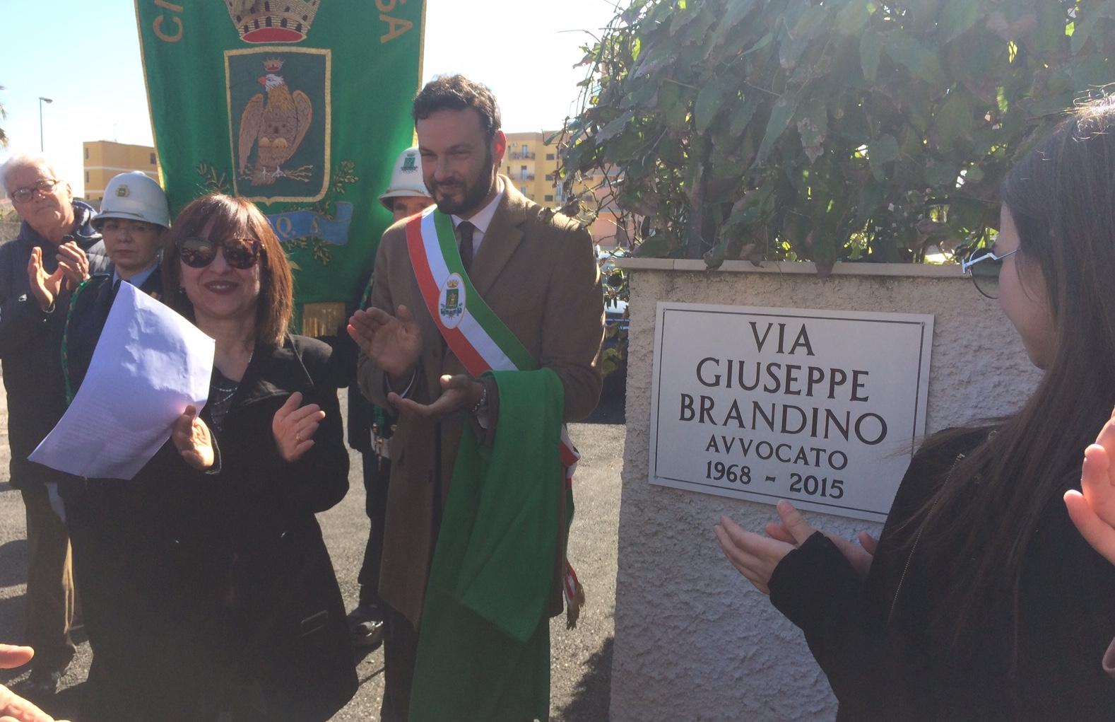 Intitolata una strada a Siracusa all'avvocato Giuseppe Brandino